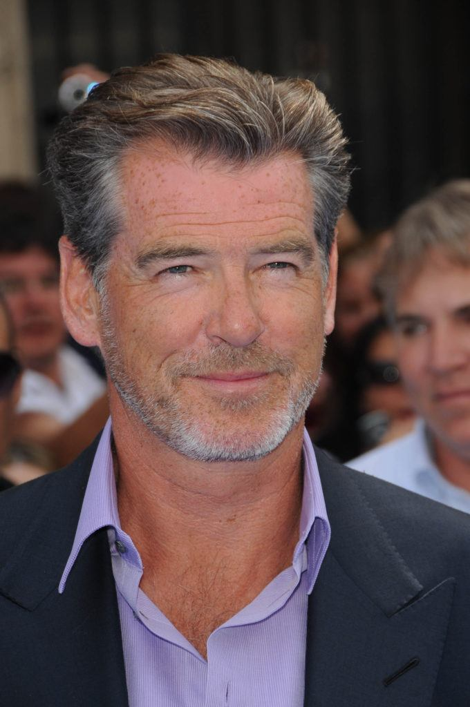 Pierce Brosnan's grey hairstyle
