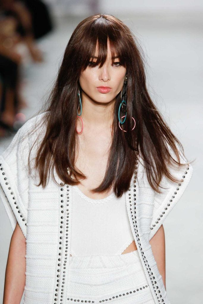 types of bangs for square-shaped face