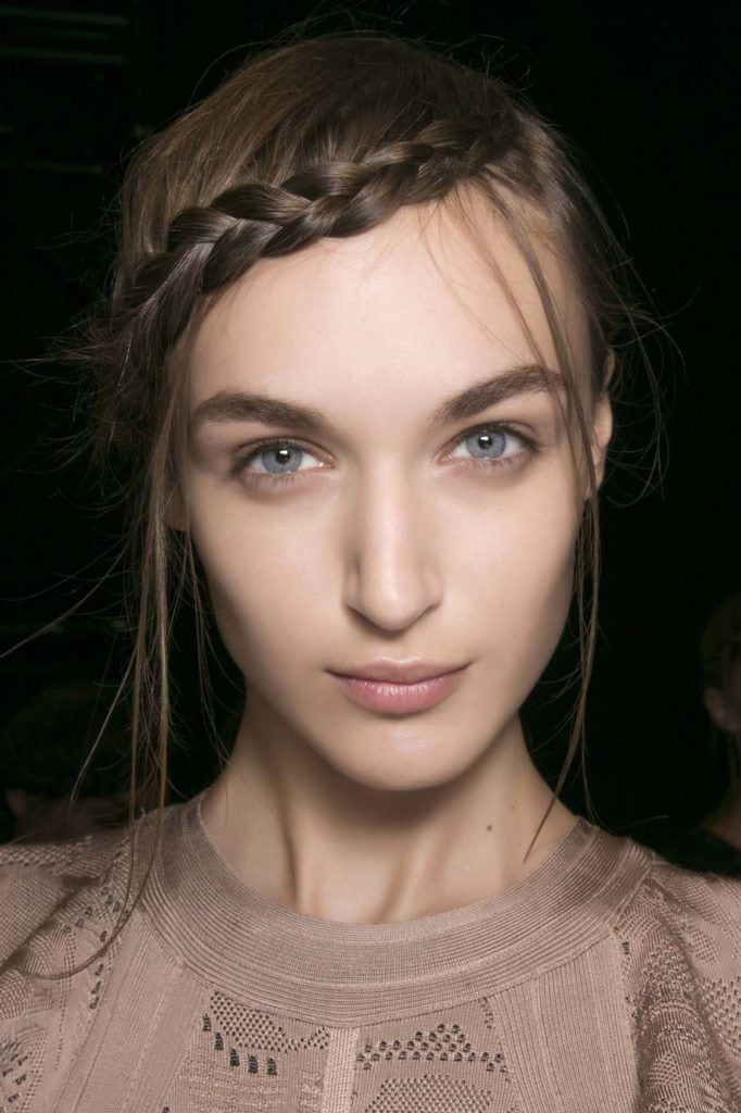 how to style bangs with braids