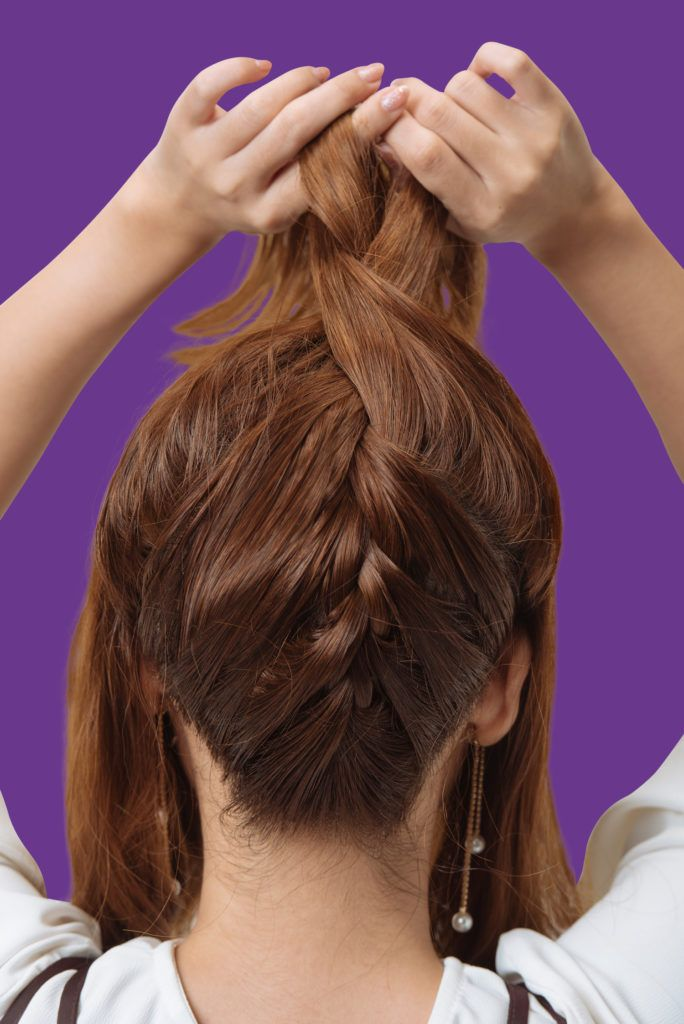 janeena chan korean hairstyle braided updo topknot