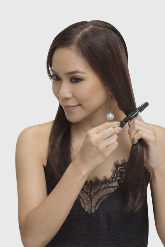 Raiza Poquiz All Things Hair braided ponytail tutorial