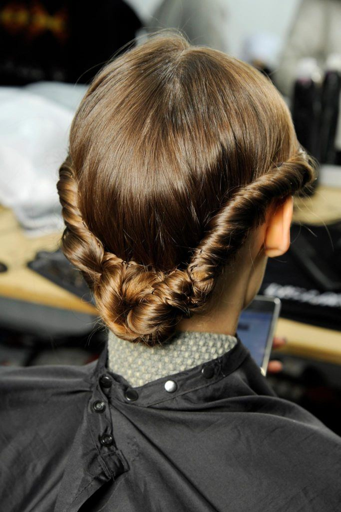 bridesmaid-hairstyles-twisted-low-bun