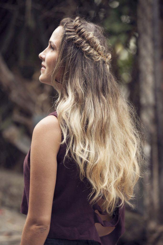 half up crown hair
