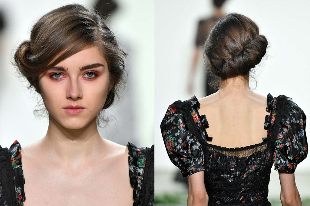 Side-parted and twisted wedding hairstyles