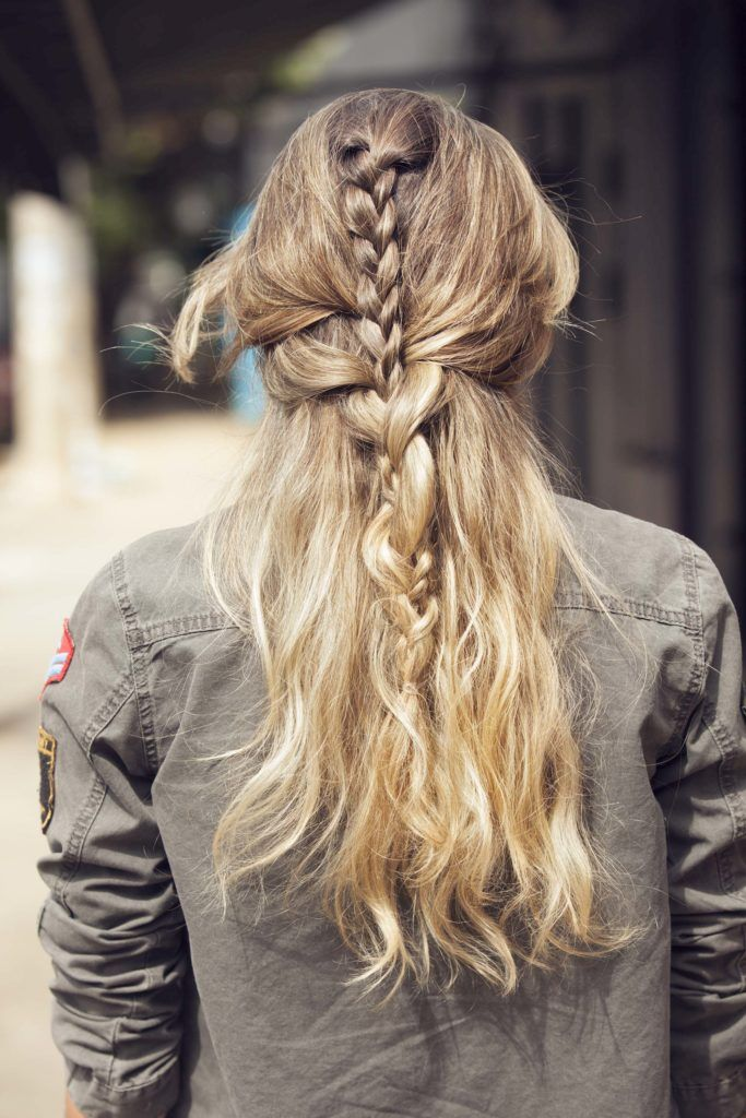 Half braided hairstyles: the braidception