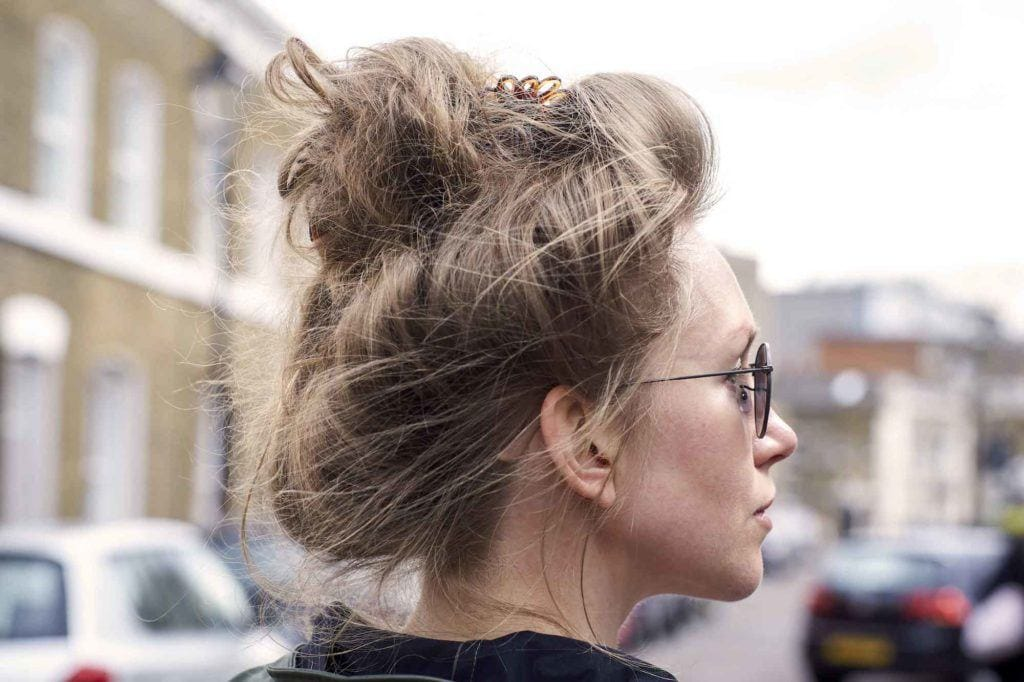 messy updo hairstyles for square faces