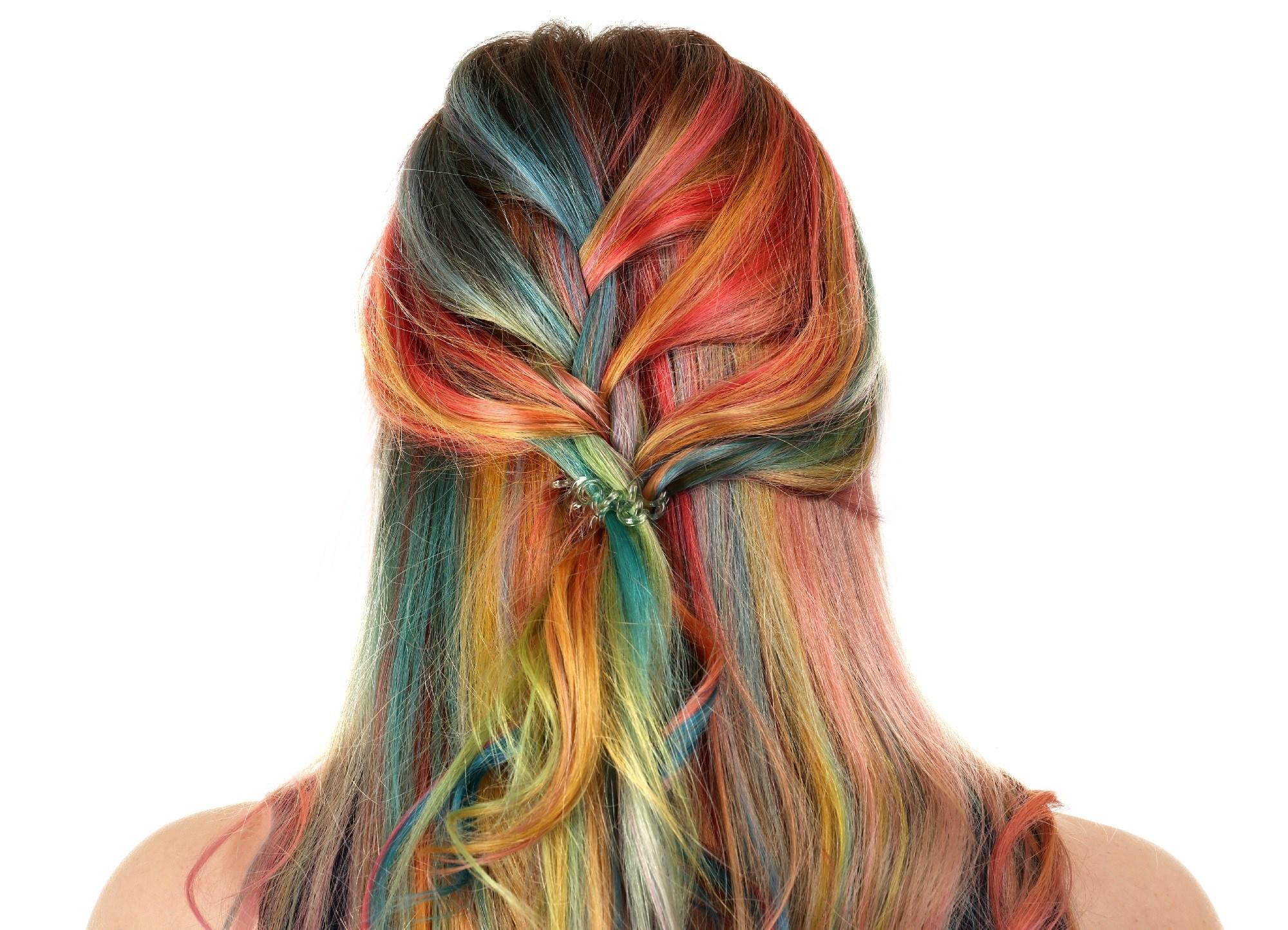 Rainbow hair color ideas - Braids Shutterstock