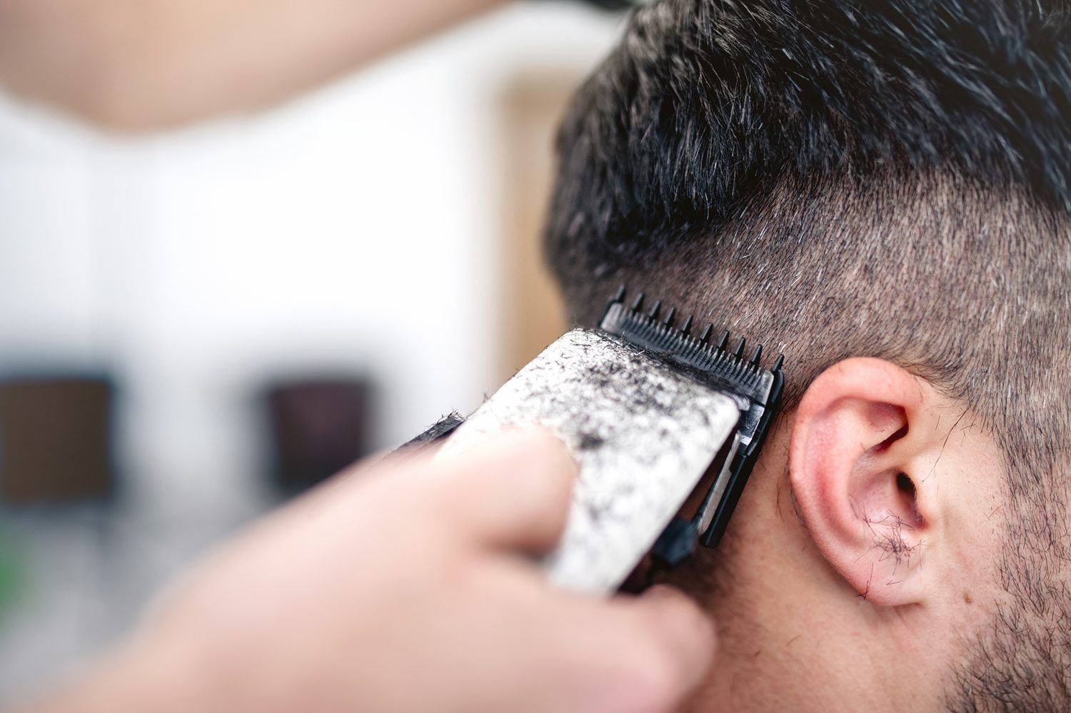 short back and sides barber's cut