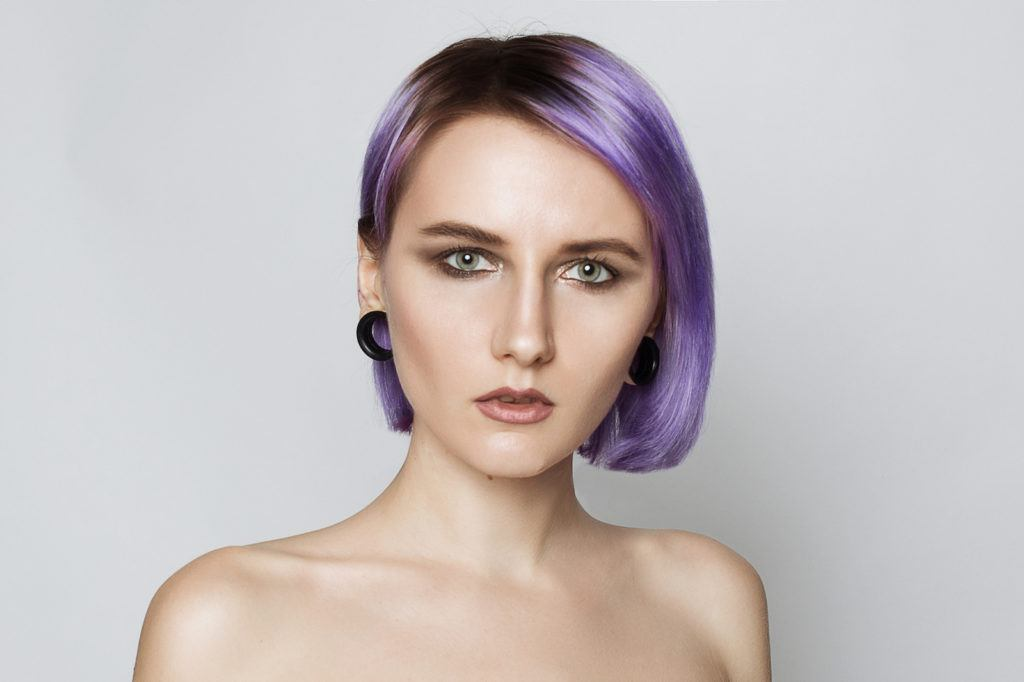 ultra violet ombre hair