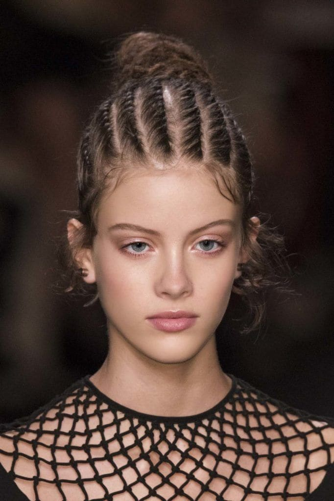 Braided hairstyles for prom: Cornrow updo