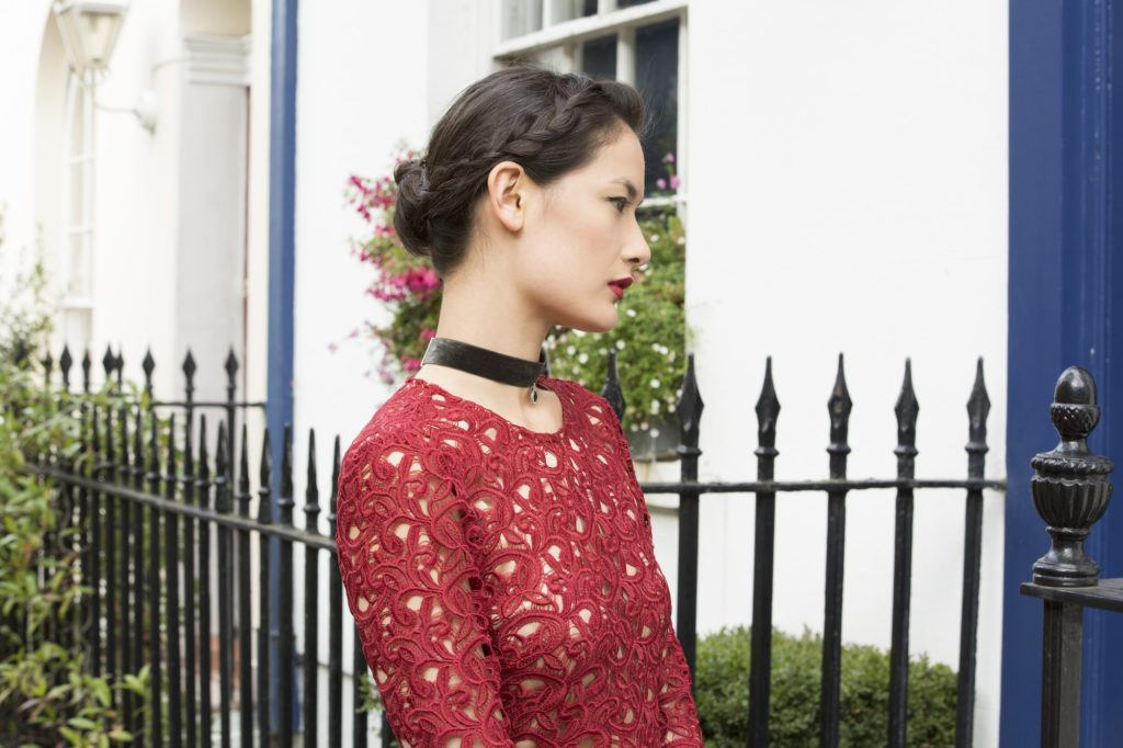 Braided hairstyles for prom: Crown braid updo