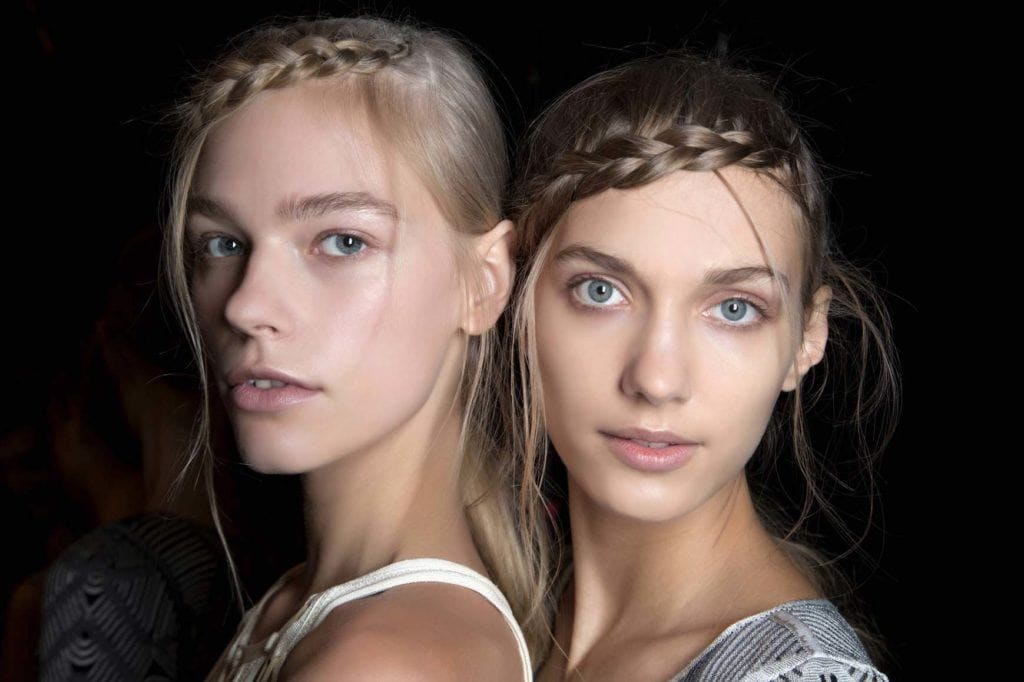 Braided hairstyles for prom: Fringe braid