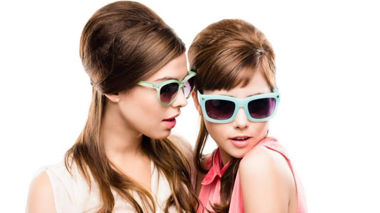 Two Gorgeous Fashion Models with retro hairstyles beehive hairstyles