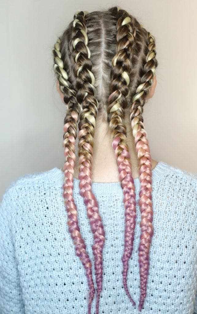 laced up cornrow