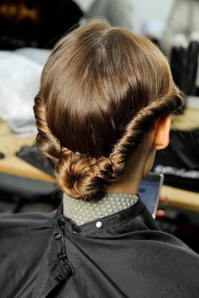 twisted hairstyles - twisted bun
