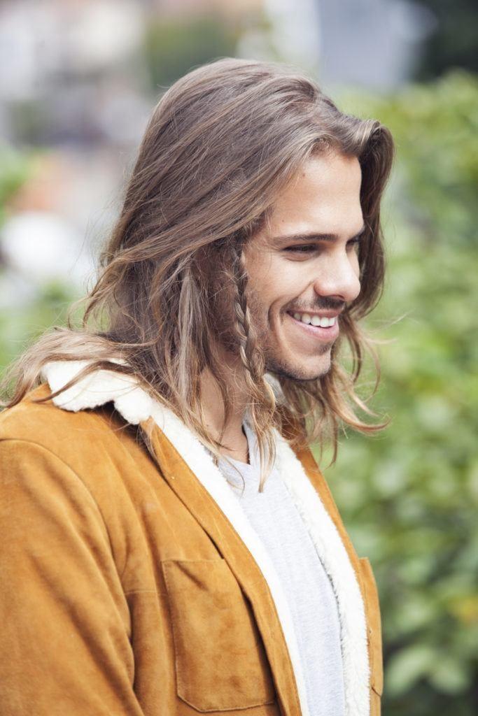 long hairstyles for men - man braids