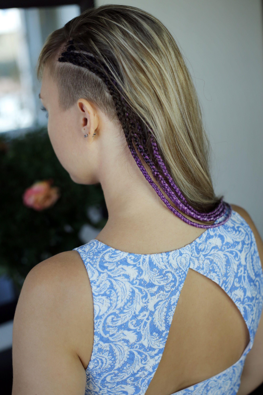 Peek-a-boo cornrow braids Shutterstock