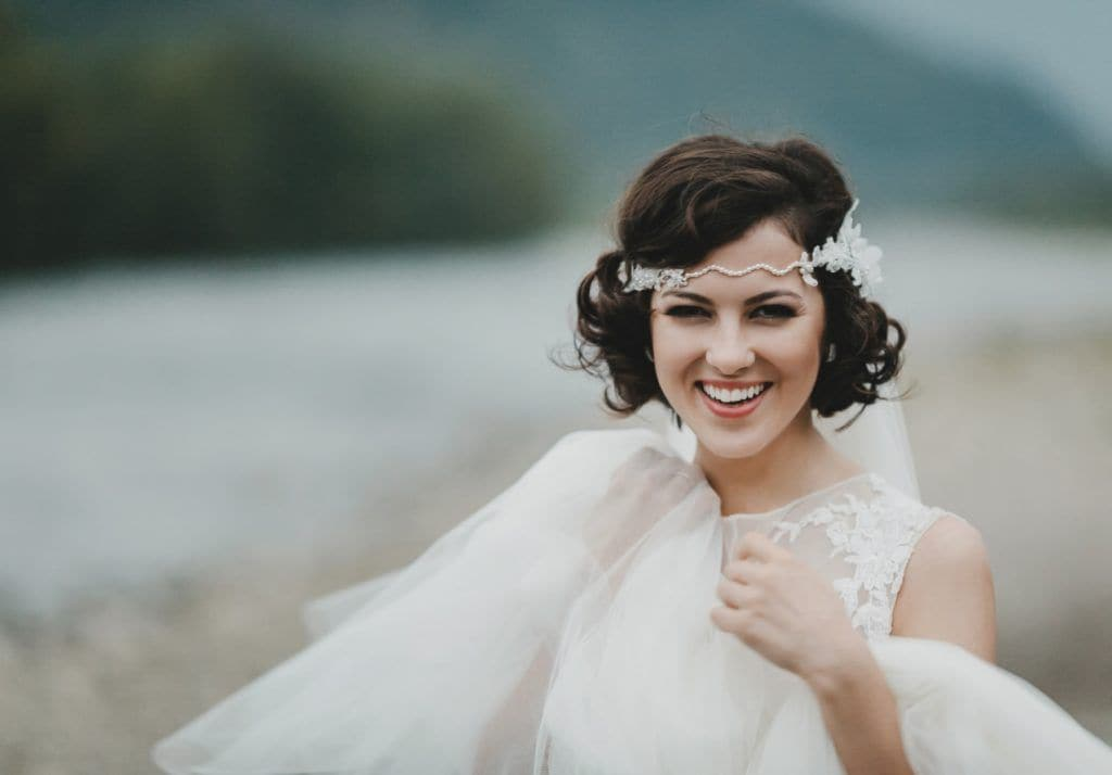wedding hairstyles for short hair - feature shutterstock