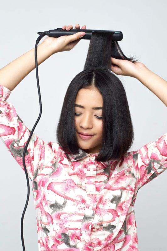 Iron at the back: How to style a bob 5
