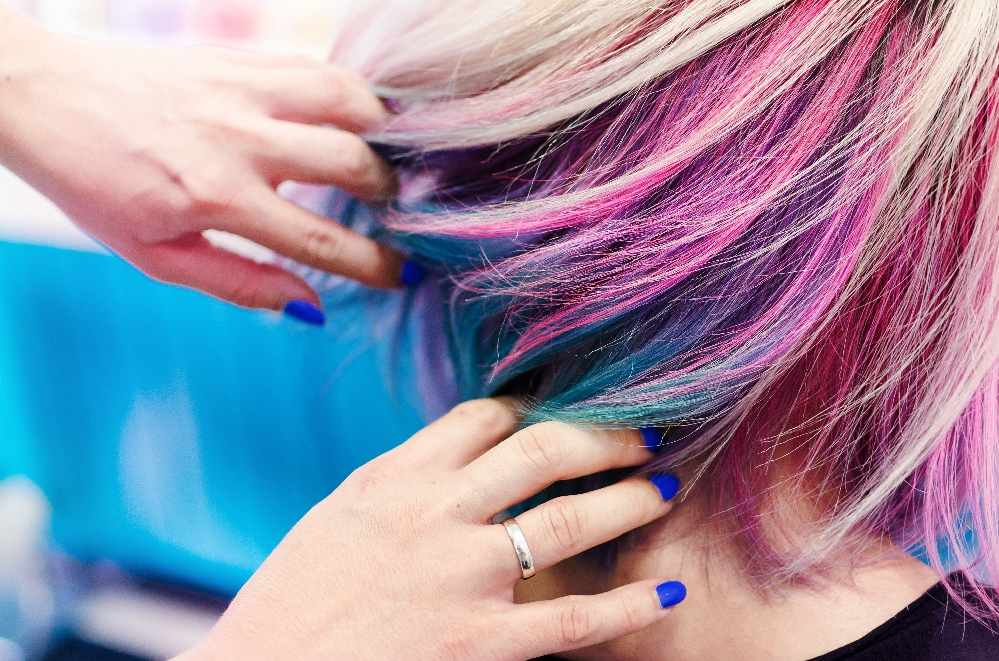 Unicorn hair - Colorful bob Shutterstock