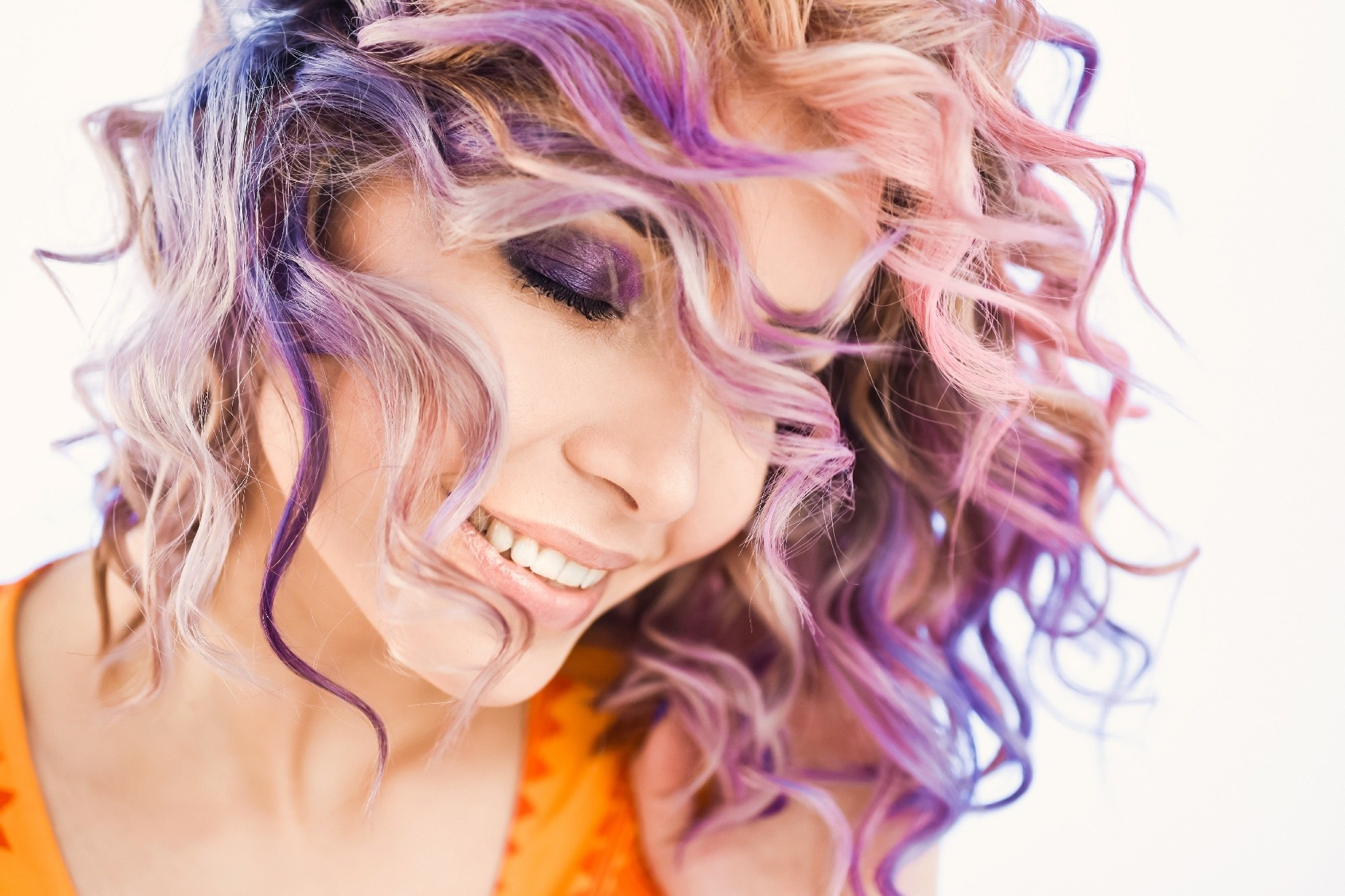 Unicorn hair - Curly colors Shutterstock