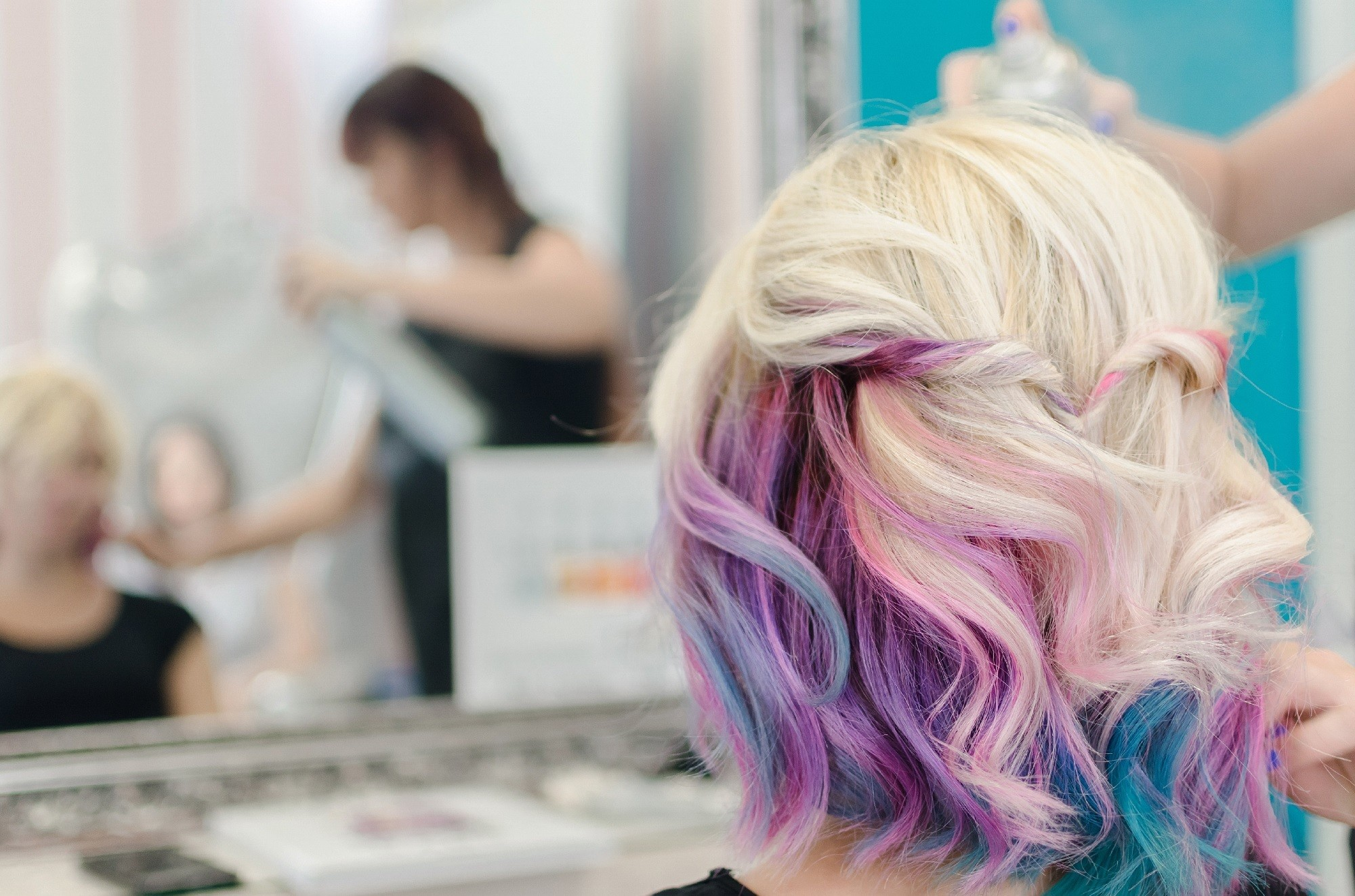 Unicorn hair - Tousled lob hidden unicorn Shutterstock