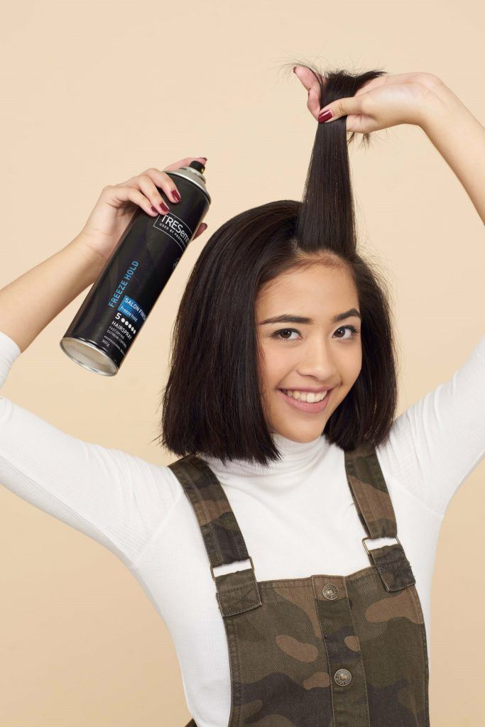 How to use hair rollers step 3: Apply hairspray