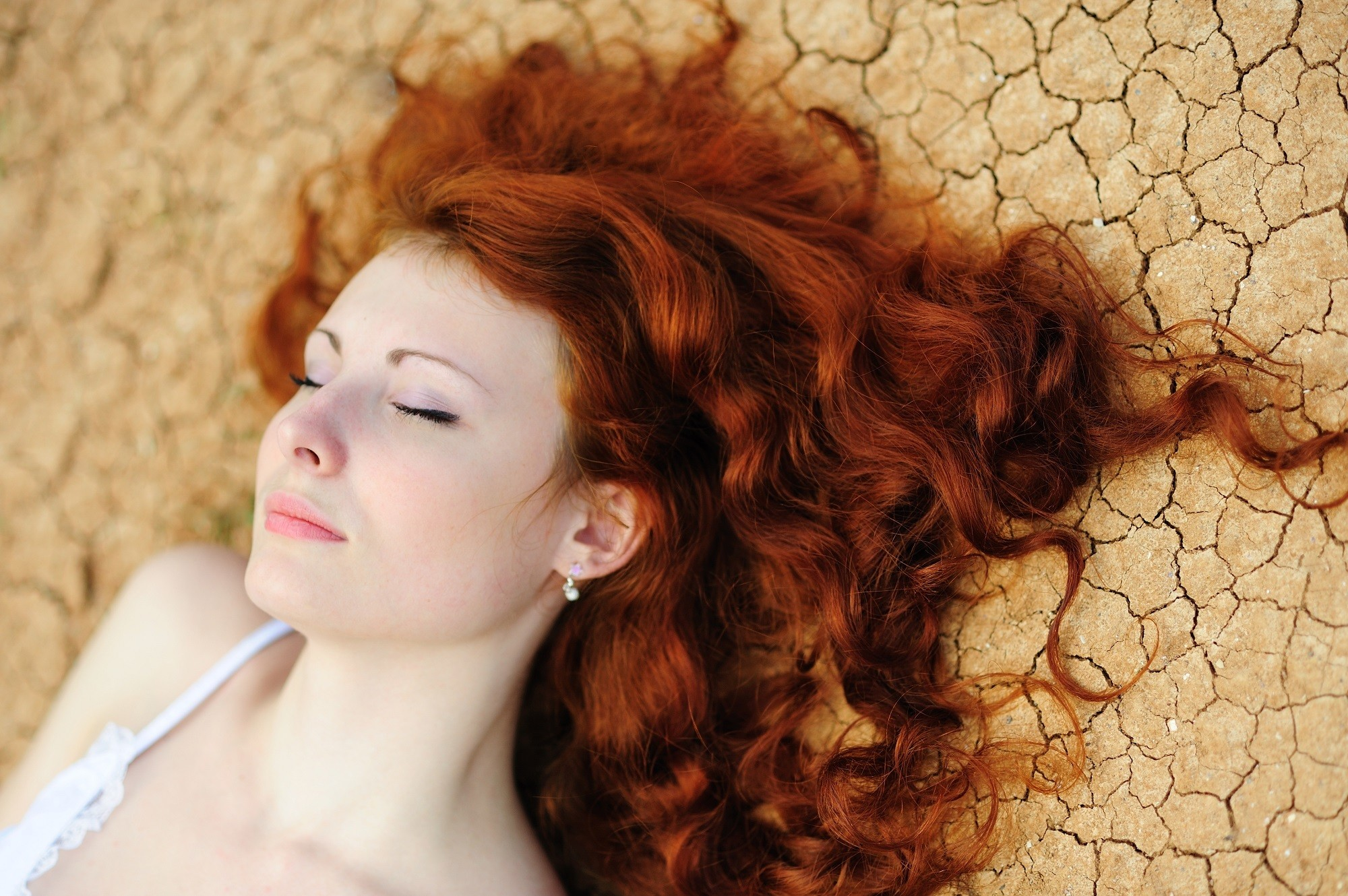 Mermaid hair ideas 1: Red hair