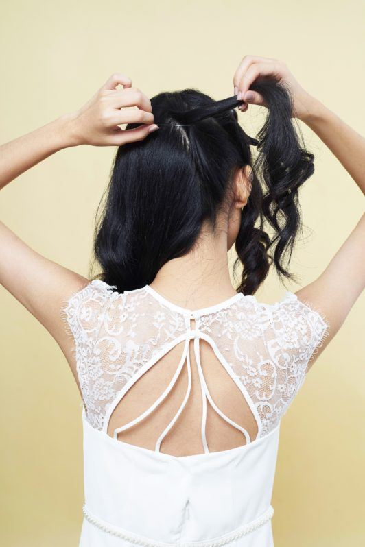 How to make a pony braid: Make your second ponytail