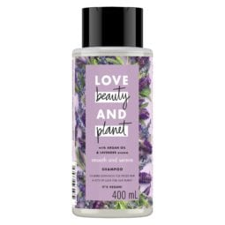 Bottle of Love Beauty and Planet Purple Shampoo