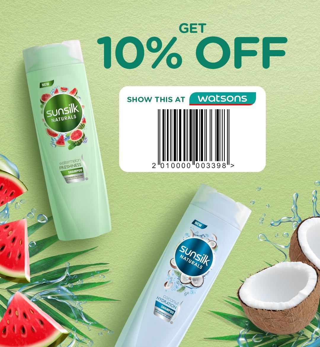 All Things Hair Summer Sale: Watsons Coupon for Sunsilk