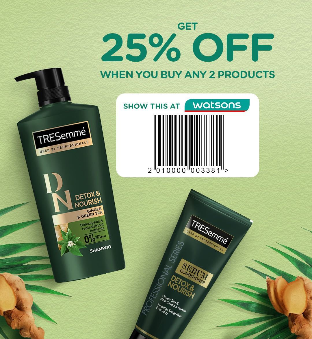 All Things Hair Summer Sale: Watsons Coupon for TRESemme