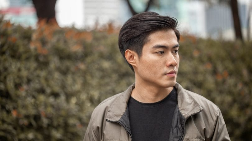 Asian man with modern quiff for men hairstyle