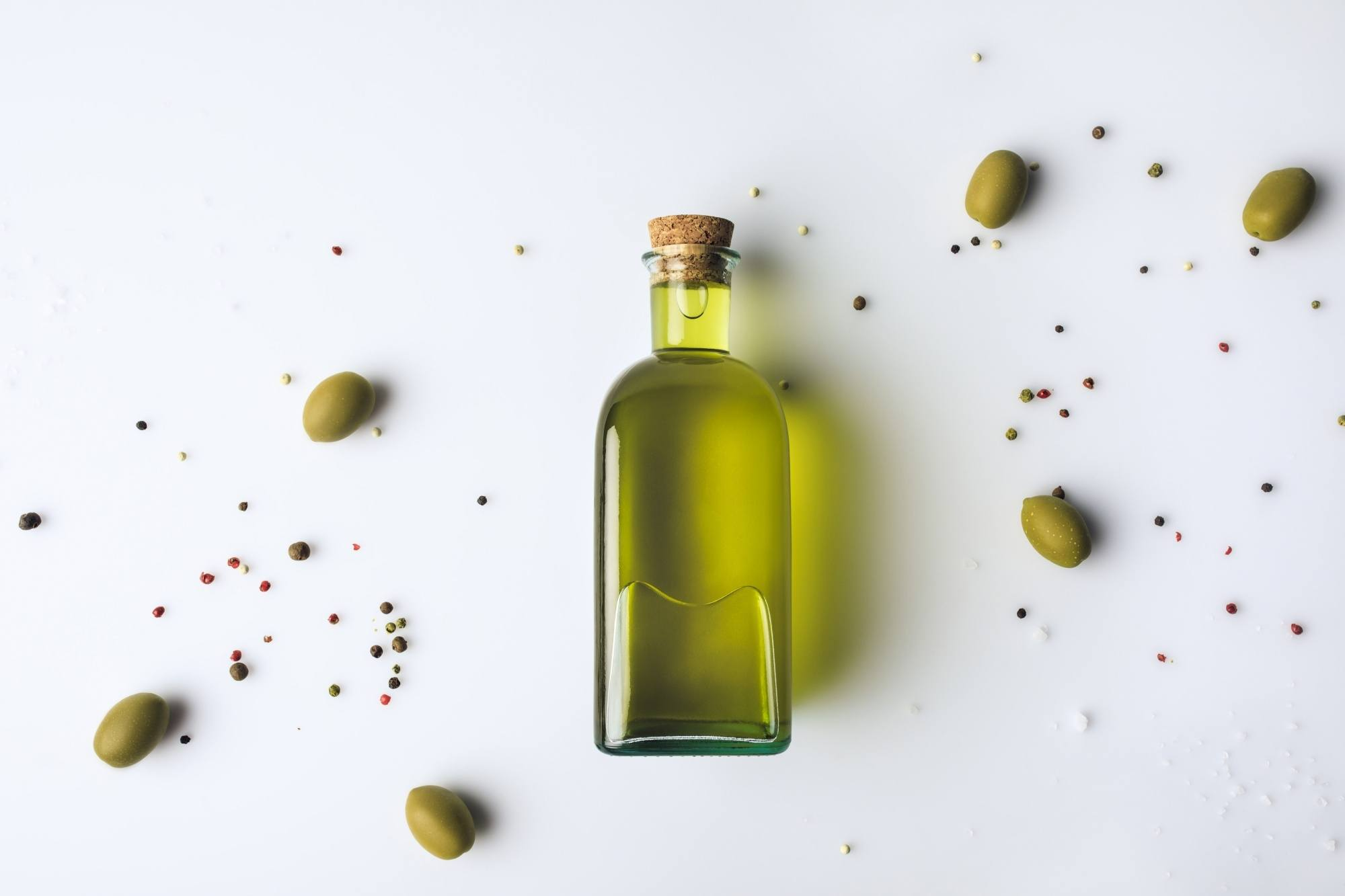 Natural dandruff remedies: a bottle of olive oil