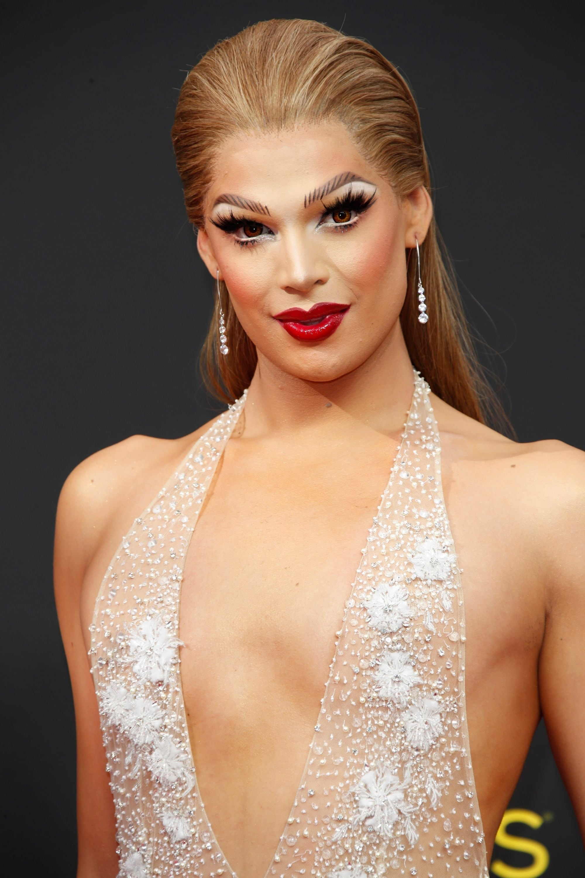 Emmy Awards 2019 Best Hairstyles: Valentina with her slicked back hair