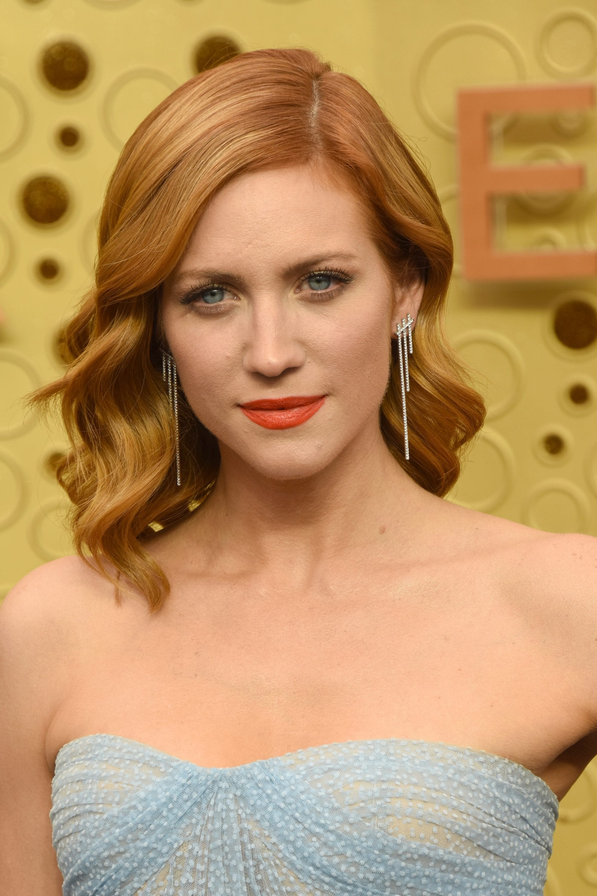 Emmy Awards 2019 Best Hairstyles: Brittany Snow with her strawberry blonde waves