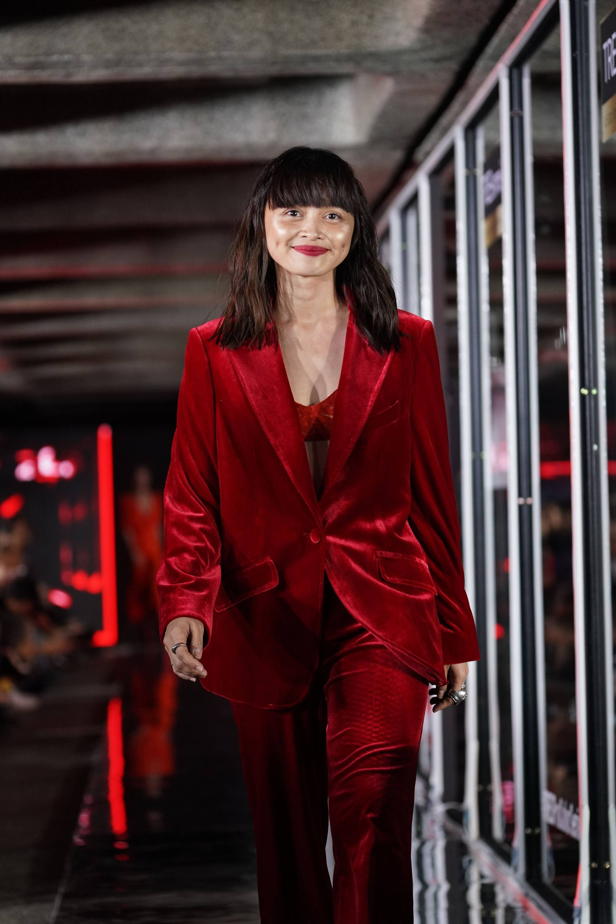 TRESemme Runway 2019: Shaira Luna with brown highlights in a red ensemble