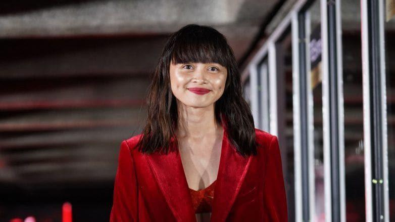 Shaira Luna smiles as she walks down the TRESemme Runway 2019