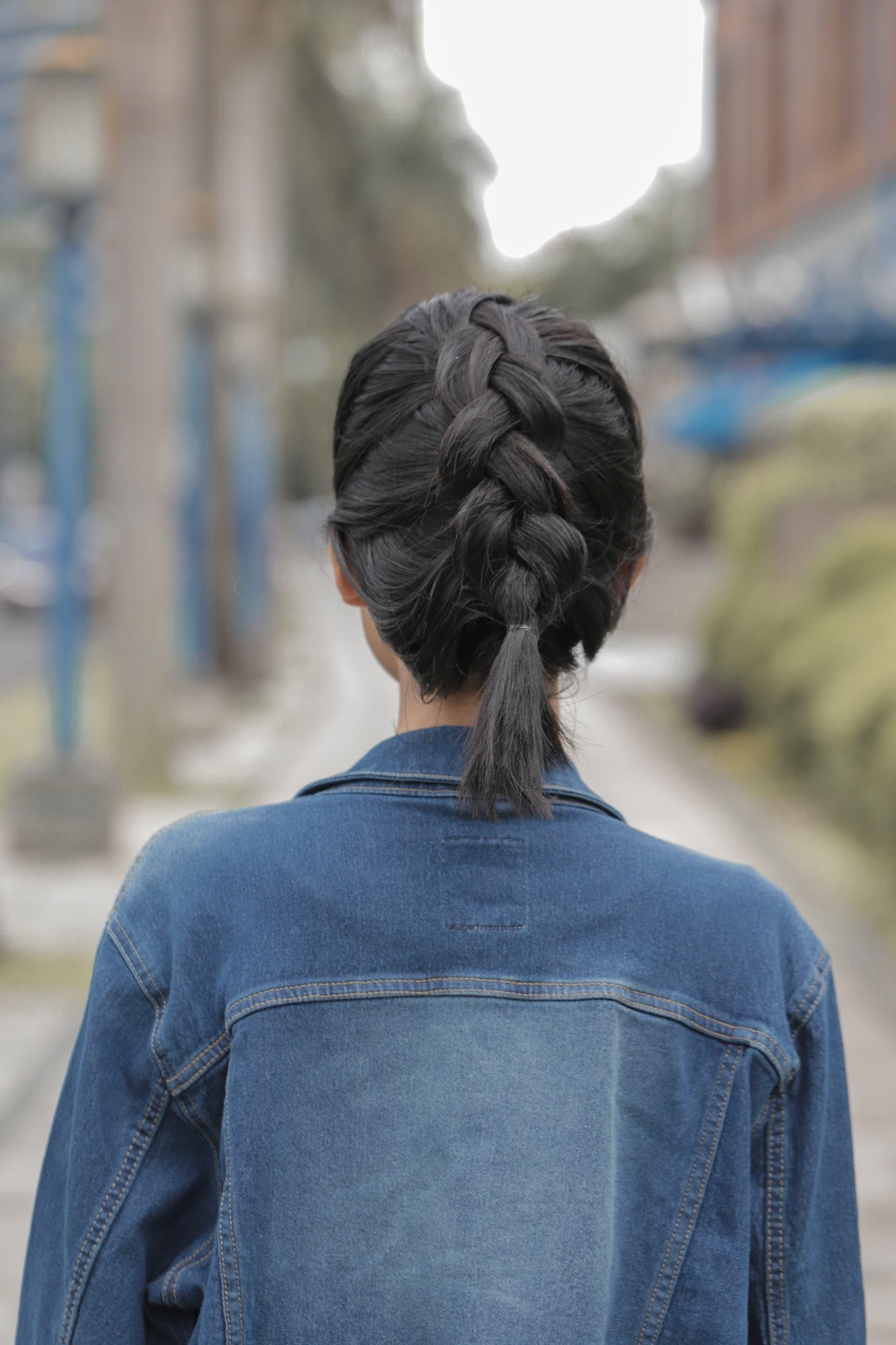 Half Up Dutch Crown Braid For Short Hair Easy Steps