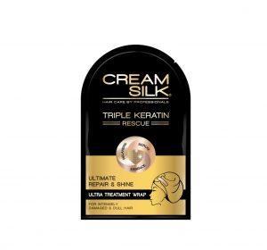 Cream Silk Triple Keratin Rescue Ultimate Repair & Shine Ultra Treatment Wrap