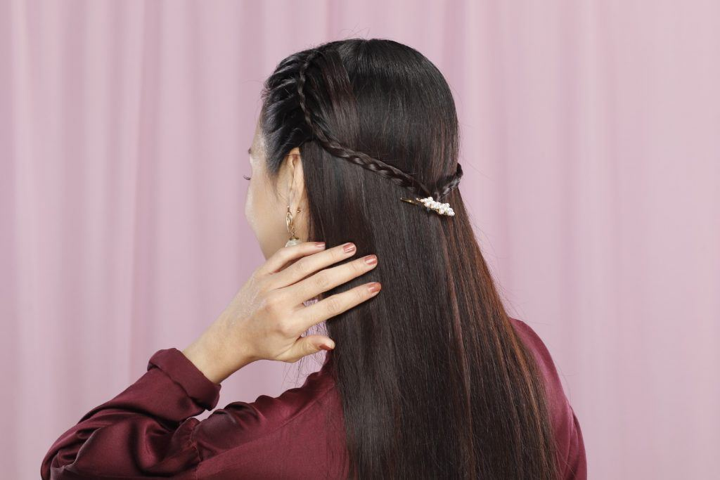 Girl's hair is done