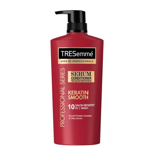 Bottle of TRESEMME Keratin SMooth KERA10 Serum Conditioner