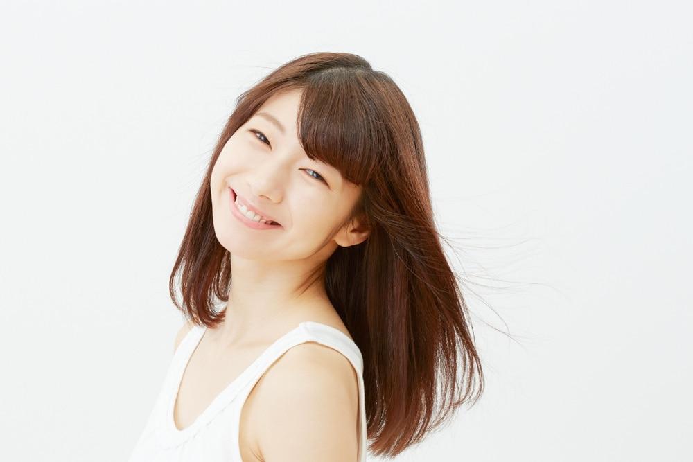 ผมประบ่า ผมหน้าม้า หน้าม้าปัดข้าง สาวญี่ปุ่น ผมสวย ผมสุขภาพดี