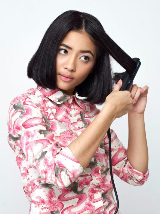 ผู้หญฺิงผมสั้นสีดำ ตัดผมบ๊อบ วิธีเซ็ตผมบ๊อบ ให้เข้าทรง